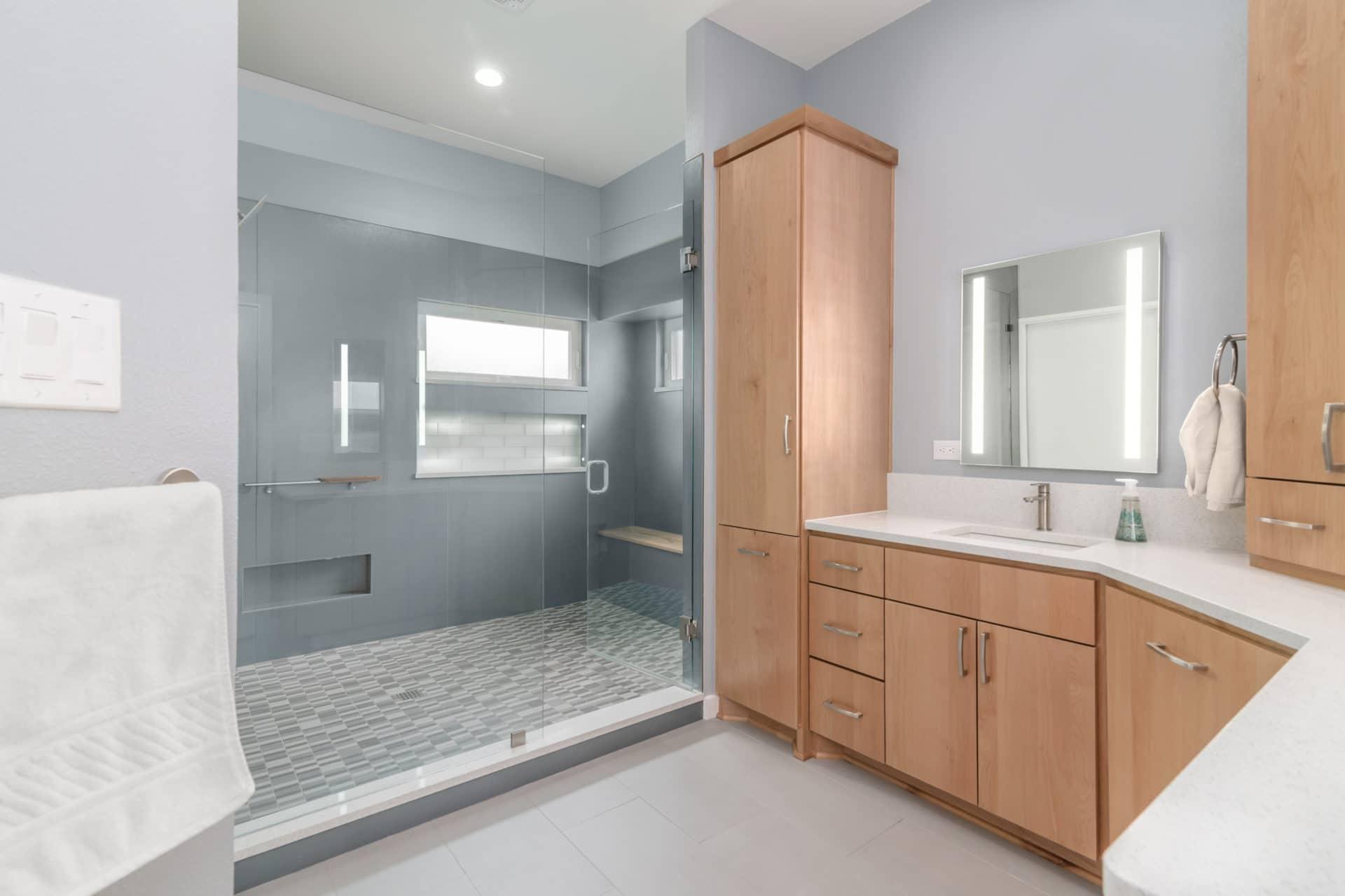 Custom Master Bathroom by New Creations Custom Design Build