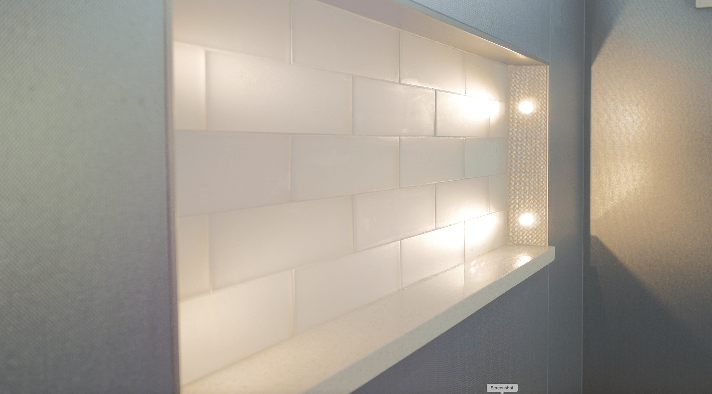 Lucarne LED Niche Lights - Custom Master Bathroom by New Creations