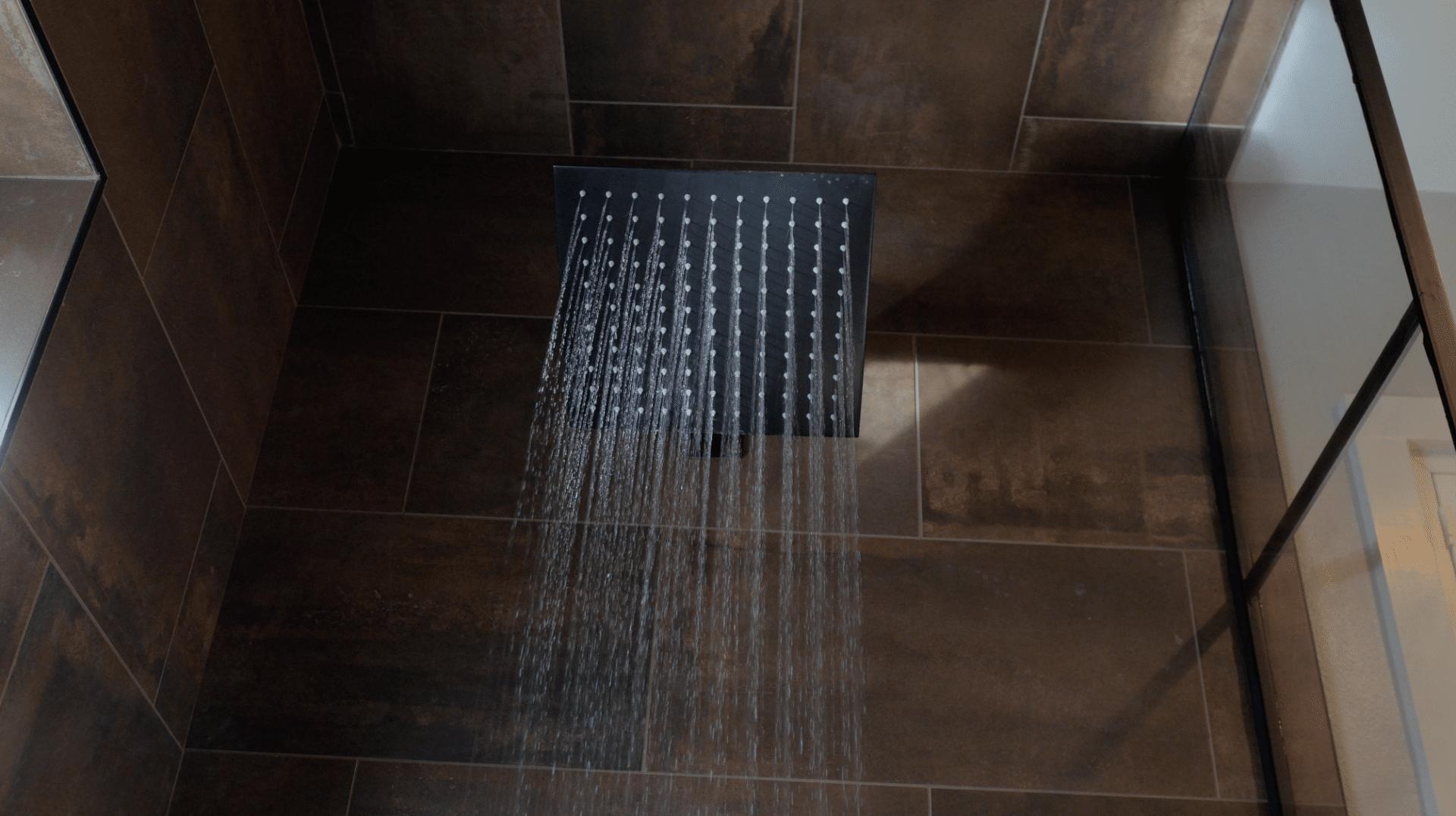 Jaclo 12 Rain Showerhead - Custom Master Bathroom by New Creations